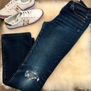J. Brand Straight Leg Distressed Jeans.